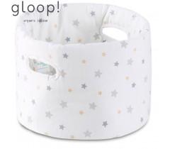 GLOOP - Cesta de Tecido Bebé Estrelas