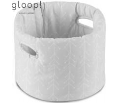 GLOOP - Cesta de Tecido Bebé Nórdico Cinza