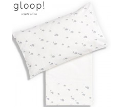 GLOOP - Conjunto de Lençois 110x150cm Elefantes 3 Peças