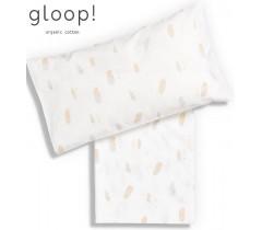 GLOOP - Lençól de Cama Completo 110x150cm Penas 3 Peças + forra de almofada