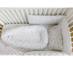 GLOOP - Sweet little bed 45x87cm Elefantes