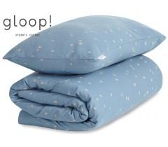 GLOOP - Capa de Edredon 100x140 cm City Blue + Capa de Almofada