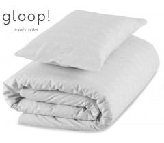 GLOOP - Pack capa + Edredon 100x140 cm Nórdico Cinza