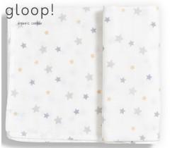 GLOOP - Fralda gloop! 110x110cm Estrelas