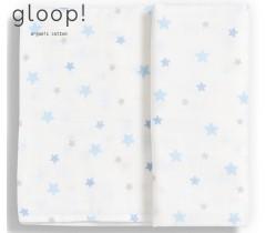 GLOOP - Fralda gloop! 110x110cm Estrelas Azuis