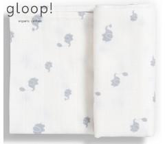 GLOOP - Fralda Tradicional 70x70cm Elefantes