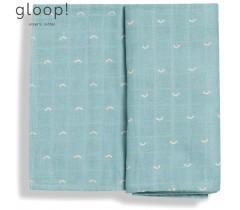 GLOOP - Fralda Tradicional 70x70cm Ocean Green