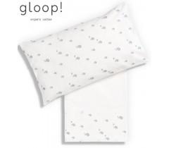 GLOOP - Lençol de Cima 110x140 cm + Capa de Almofada Elefantes