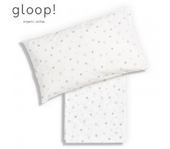 GLOOP - Lençol de Cima 110x140 cm + Capa de Almofada Estrelas