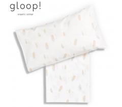 GLOOP - Lençól de Cama 110x140cm Penas + forra de almofada