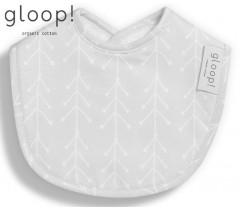 GLOOP - Pack 2 babetes 30x23cm Nórdico Cinza