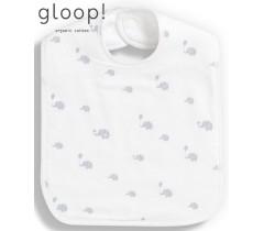 GLOOP - Pack de 2 babetes 40x25cm XL Elefantes