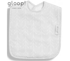 GLOOP - Pack de 2 babetes 40x25cm XL Nórdico Cinza