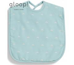 GLOOP - Pack de 2 babetes 40x25cm XL Ocean Green