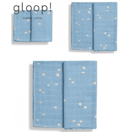 GLOOP - Pack 3 fraldas (3 Tamanhos) City Blue