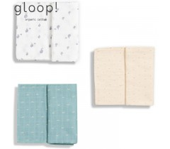 GLOOP - Pack 3 Fraldas Little Stripes / Elefantes / Ocean Green