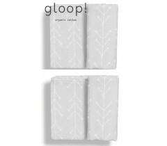 GLOOP - Pack 2 fraldas 50x50cm Nórdico Cinza