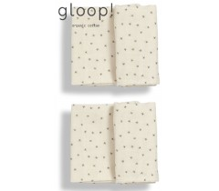 GLOOP - Pack 2 fraldas 50x50cm Natural