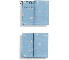 GLOOP - Pack 2 fraldas 50x50cm City Blue