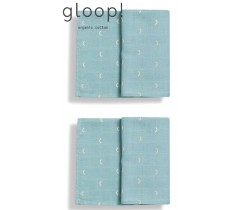 GLOOP - Pack 2 fraldas 50x50cm Ocean Green