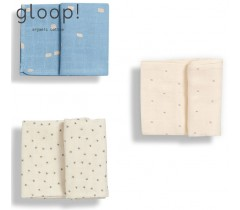 GLOOP - Pack 3 Fraldas Little Stripes / Natural / City Blue