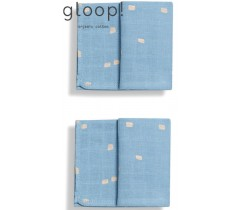 GLOOP - Pack 2 fraldas 70x70cms City Blue
