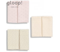 GLOOP - Pack 3 Fraldas Natural / Little dots / Blush Rose