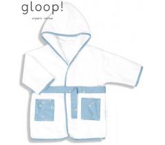 GLOOP - Robe de banho City Blue 0-12 meses