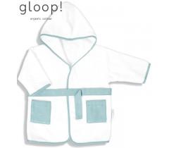 GLOOP - Robe de banho Ocean Green 0-12 meses
