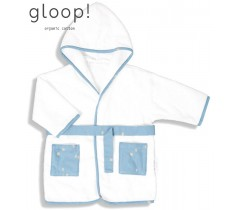 GLOOP - Robe de banho City Blue 12-24 meses