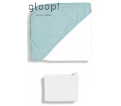 GLOOP - Toalha de banho 90x90cm Ocean Green