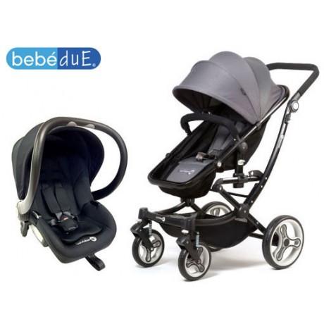 Bebedue - Carrinho de passeio Duo UP Grey + Grupo 0+ Black