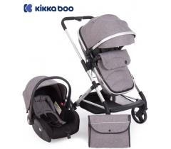 Kikka Boo - Carrinho de babé Silla de paseo 3 in 1 Amulett Gris