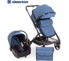 Kikka Boo - Carrinho de babé Silla de paseo 3 in 1 Amulett Azul
