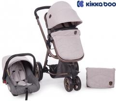 Kikka Boo - Carrinho de bebé 3 en 1 Amica Gris