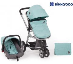 Kikka Boo - Carrinho de bebé 3 en 1 Amica Mint