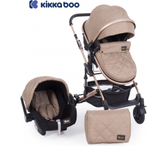 Kikka Boo - Carrinho de bebé 3 en 1 Amaia Beige