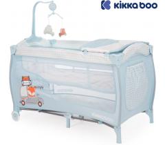 Kikka Boo - Cama de viagem Dolce Sonno Azul Foxy 2 níveis