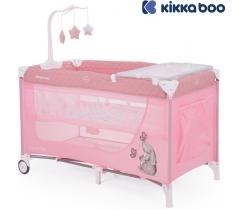 Kikka Boo - Cama de viagem Day & Night  Rosa Rabbit 2 níveis