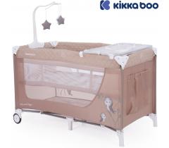 Kikka Boo - Cama de viagem Day & Night Beige Bird 2 níveis