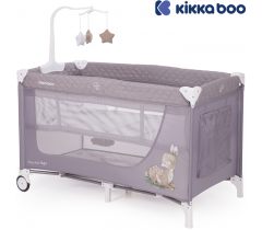Kikka Boo - Cama de viagem Day & Night Gray Deer 2 níveis