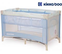 Kikka Boo - Cama de viagem Pyjama Party Azul Snail 2 níveis