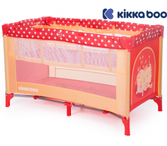 Kikka Boo - Cama de viagem Pyjama Party Red Lion 2 níveis