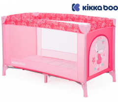 Kikka Boo - Cama de viagem Pyjama Party Pink Fox 2 níveis