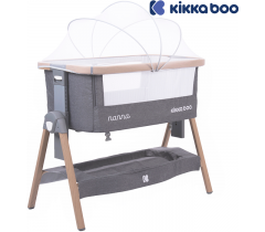 Kikka Boo - Berço Nanna Cinzento Escuro Melange de madera