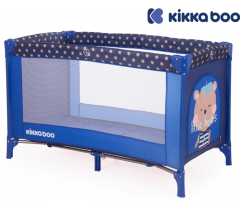 Kikka Boo - Cama de viagem Pyjama Party Dark Blue Blue Bear 1 nível