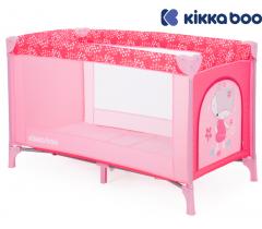 Kikka Boo - Cama de viagem Pyjama Party Pink Fox 1 nível