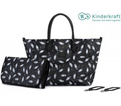 Kinderkraft - Saco de fraldas Mommy Bag Black