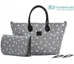 Kinderkraft - Saco de fraldas Mommy Bag Grey