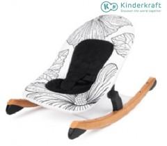 Kinderkraft - Espreguiçadeira de baloiço FINIO black/white